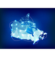Canada country map polygonal with spot lights vector image vector image
