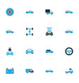 car colorful icons set collection of car battery vector image vector image