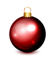 christmas ball red isolated vector image vector image
