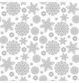 Christmas seamless pattern with snowflakes new