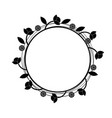 circle floral doodle frame isolated white vector image vector image