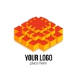 Colorful 3d isometric isolated shape for geometric vector image vector image