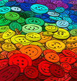 Colorful buttons background cartoon style vector image vector image