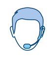 face man call center vector image