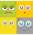 Facial expression vector image