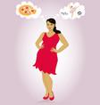 fat girl dreams vector image vector image