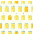 Flat seamless pattern with mason jar vector image vector image