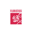 Flower rose logo flower shop concept design