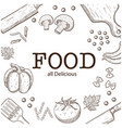 food all delicious vegetable background ima vector image