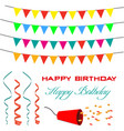 garland bunting and accessories for greeting card vector image