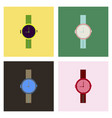 hand watch icon wristwatch - clock symbol clock vector image vector image