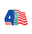 happy 4th july - independence day vector image vector image