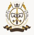 heraldic signs vintage elements vector image vector image