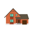House to create a streetscape Flat color vector image vector image