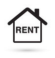 house with rent icon vector image