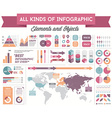 Infographics Elements and Objects Big Huge Set All vector image vector image