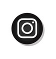 instagram sign vector image vector image