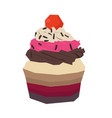 isolated geometric cupcake vector image vector image