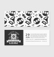 karaoke music and bar card template talents night vector image