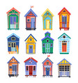 lifeguard bungalows or stations vector image vector image