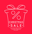 merry christmas sale background in linear vector image vector image