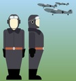 Military pilots of the Wehrmacht in World War II vector image vector image