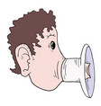 mouth megaphone vector image