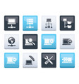 network server and hosting icons vector image vector image