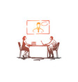 online meeting office conference business vector image