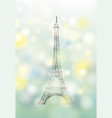 paris spring background eiffel tower travel vector image