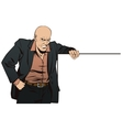 People in retro style Tough guy with poster vector image