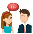 people talking communication icon vector image vector image