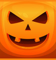 pumpkin head halloween scary background vector image