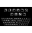Qwerty minimalistic alphabet Similar to computer vector image vector image