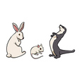 rabbit mouse and ferret vector image