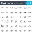 resistors electrical symbols vector image vector image