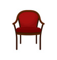 retro red soft classic chair comfortable vector image vector image