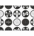seamless pattern of monochrome bottle caps vector image vector image