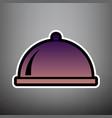 server sign violet gradient vector image