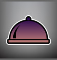 server sign violet gradient vector image vector image
