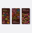 set chocolate bar package designs vector image vector image