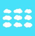 set of cloud vector image vector image