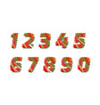 sketch numbers - different colors letters are made vector image