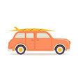 summer vacation car isolated vector image vector image