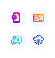 support chat smile and seo strategy icons set vector image vector image
