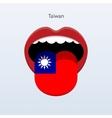 Taiwan language Abstract human tongue vector image vector image