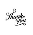 thank you black handwritten inscription isolated vector image