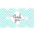 thank you lettering vector image vector image