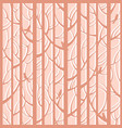 trees woods seamless stripes pattern forest trees vector image vector image