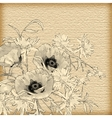 Vintage Hand Drawing Flowers